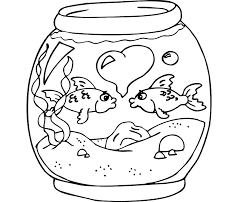 Small Picture Colour Drawing Free Wallpaper Fish Bowl Coloring Drawing Free