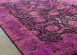 rugsville plum wool overdyed 12252 rug 12252