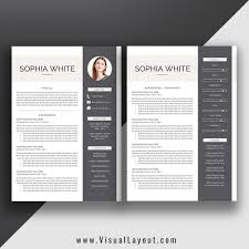 Resume Template The Sophia Resume Instant Download Visuallayout Com