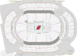 Bridgestone Arena Seating Chart Virtual Prudential Center Newark Arena Seat And Row Numbers Detailed