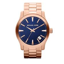 michael kors watch men s mk7065 pink orchard luxury brands online michael kors men s large runway blue dial rose gold watch
