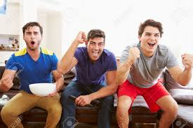 group of men sitting on sofa watching sport together stock photo group of men sitting on sofa watching sport together stock photo 33478374