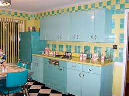 Yellow Kitchen Theme Stylish Blue And Yellow Retro Kitchen Theme With Black And White