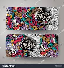 Doodling Designs Templates Cartoon Colorful Vector Hand Drawn Doodles Stock Vector