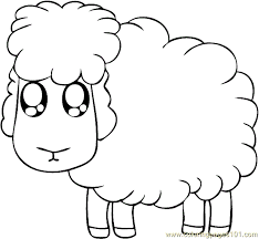 Small Picture Sitting Sheep Coloring Page Free Sheep Coloring Pages