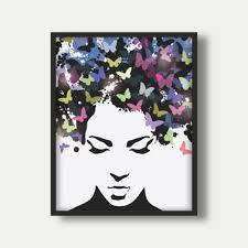 hair wall art hair prints hair poster girl hair wall art gir