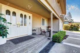 white double front door. Double Front Porch White Door L