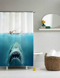 shark jaws shower curtain shower curtain size 36x72 48x72 60x72 66x72