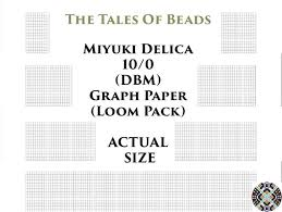 10 0 Miyuki Delica Beading Graph Paper Actual Size Seed Bead Etsy