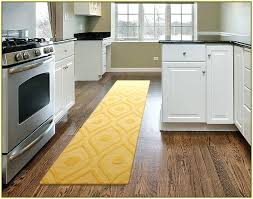 kitchen runner rugs washable yellow rug in modern