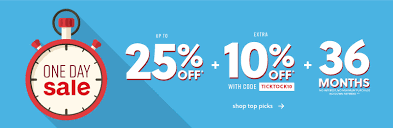 one day up to 25 off extra 10 off