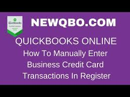 how to manually enter business credit