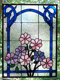 flowers in the window stained glass lee klade
