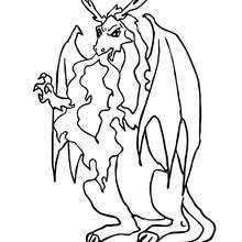 Small Picture Dangerous dragon belching out flame coloring pages Hellokidscom