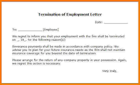 termination letter template 8 letter of termination of employment card authorization 2017