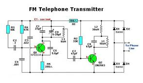 telephone wiring diagram for broadband images telephone transmitter circuit electronic circuit schematic