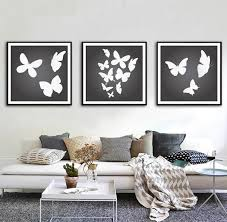 2018 canvas painting black white erfly decoration wall art inside black and white wall art