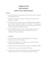 essay questions caribbean studies caribbean studies<br >essay questions<br >module two issues