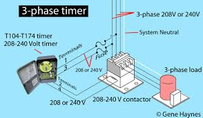 how to wire intermatic t104 and t103 and t101 timers larger image 208 240 volt 3 phase