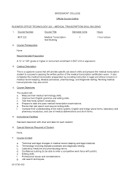 Medical Transcription Resume Medical Transcription Resume Sample Resume For Entry Level Medical 1