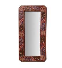 decorative mango wood wall mirror