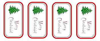 Free Printable Gift Tag Templates For Word Gift Tags Templates From Template Holiday Return Address Labels Free