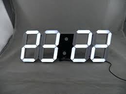 full size of led digital wall clocks uk battery operated light clock large modern design big