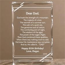 dear dad personalized poem keepsake 80th birthday ideas for men present her gift