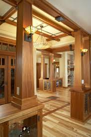 A lot to love here...inlay floors, wood panelling and trim,. Craftsman Style  ...