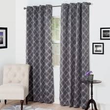 Black Patterned Curtains Magnificent Inspiration