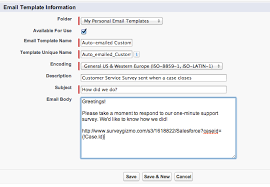 Email A Survey Via Salesforce Surveygizmo Help