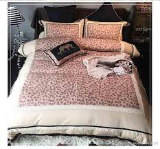 european style beauty and the beast leopard duvet cover set 100 cotton double sided sheet set queen king size silver bedding queen bedding from comfortplus
