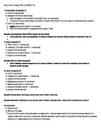 argument essay sample outline fsa by academics come first tpt argument essay sample outline fsa