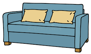 couch drawing. Download Blue Sofa Stock Vector. Illustration Of Relax, Simple - 53784149 Couch Drawing