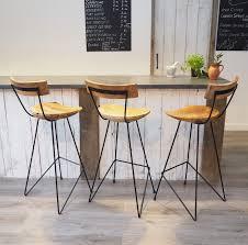Stig Industrial Bar Stool With Backrest Zaza Homes Industrial Bar Stool With Backrest Za Za Homes