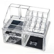 beautyland 3 big drawers clear acrylic cosmetic storage drawers makeup jewelry storage display organizer box lipstick