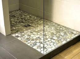 shower base ideas best for tile pan floor pebble