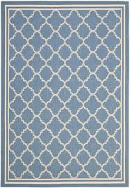 safavieh courtyard blue indoor outdoor area rug 4 x 5 7