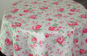 cath kidston 150cms 5ft round tablecloth vintage red roses kikibe
