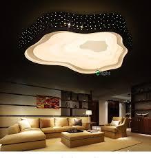 modern simple metal cloud led ceiling chandelier lights living room dimmable led chandeliers lighting bedroom chandelier fixture