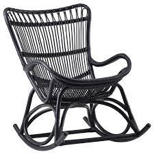black wicker rocking chair.  Wicker Monet Indoor Rattan Rocking Chair Matte Black Black Wicker Rocking Chairs On Wicker K