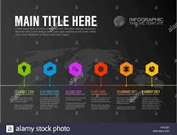 Timeline Milestones Vector Infographic Company Milestones Timeline Template With Hexagon