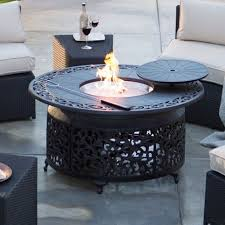 round propane gas fire pit table