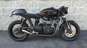 2009 triumph thruxton cafe racer moto chop shop