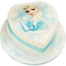 Loveheart Frozen Birthday Cake
