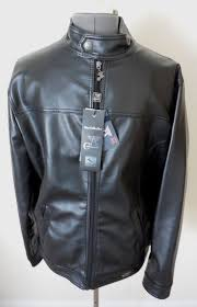 mens black a collezioni leather er jacket new collection sz m italy nwt acollezioni flighter