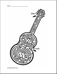 76057d29109c410fa74b8bdc06bbfb2f guitar maze & other music theme worksheets & printables music on music literacy worksheets