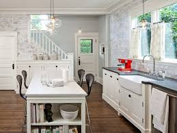 rectangle white stained wooden kitchen island under glass pendant lamp combined with black backrest barstool astounding kitchen pendant