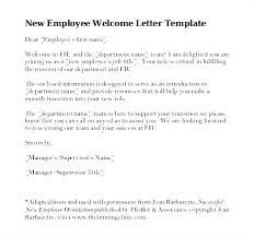 Welcome Letter Template Employee Welcome Pack Template