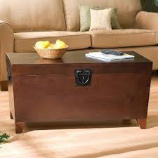 classic functional wooden trunk coffee table with lift top revealing ample storage space for magazines chest coffee table multifunction furniture